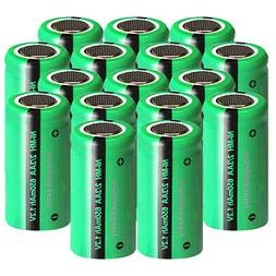 1.2v NiMH 2/3AA Size Battery Rechargeable 650mAh Flat Top fo