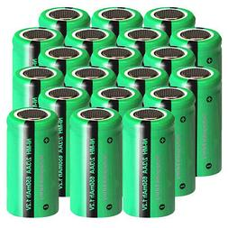 2/3AA Size Rechargeable Battery 1.2v 650mAh NiMH for Solar L