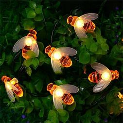 20 LED Honey Bee Fairy String Light Battery Operated Outdoor