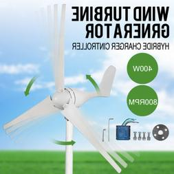 400W 20A Wind Turbine Generator Wind Charger Controller Home