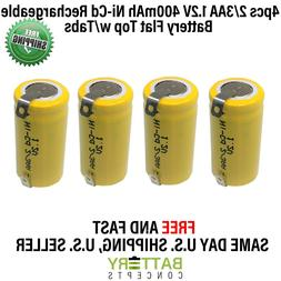 4pcs Rechargeable Battery 2/3AA NiCd w/Tabs for Solar Light