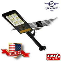 Solar Light LED 300-Watt Outdoor Lamp With Remote Control -