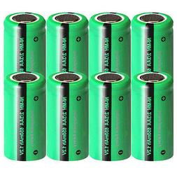 1.2v 650mAh 2/3AA Rechargeable Batteries NiMH for Garden Sol