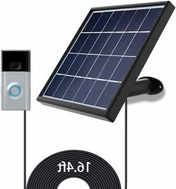 Solar Panel for Ring Video Doorbell 1, 2 Waterproof Charge 5