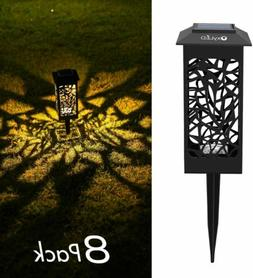OxyLED Solar Path Lights Outdoor, 8 Pack LED Garden Pathway
