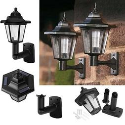 Solar Powered LED Outdoor Hallway Wall Light Automatic Porch