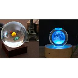 Solar System & Moon Crystal Ball Astronomical Science Model