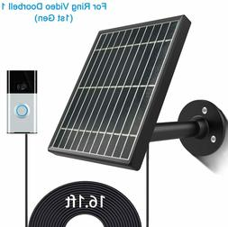 USA Solar Panel for Ring Video Doorbell 13.5W Output,Aluminu