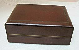 Vintage Swiss Solar Brown Faux Leather Box In Nice Clean Sha